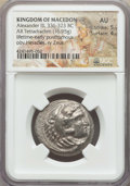 Ancients:Greek, Ancients: MACEDONIAN KINGDOM. Alexander III the Great (336-323 BC).AR tetradrachm (16.95 gm). NGC AU 5/5 - 4/5. ...