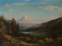 William Keith (American, 1839-1911) Mount Hood from the Banks of Little Sandy River, 1869 Oil on can