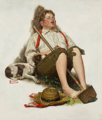 Norman Rockwell (American, 1894-1978) Lazybones, The Saturday Evening Post Cover, September 6, 1919