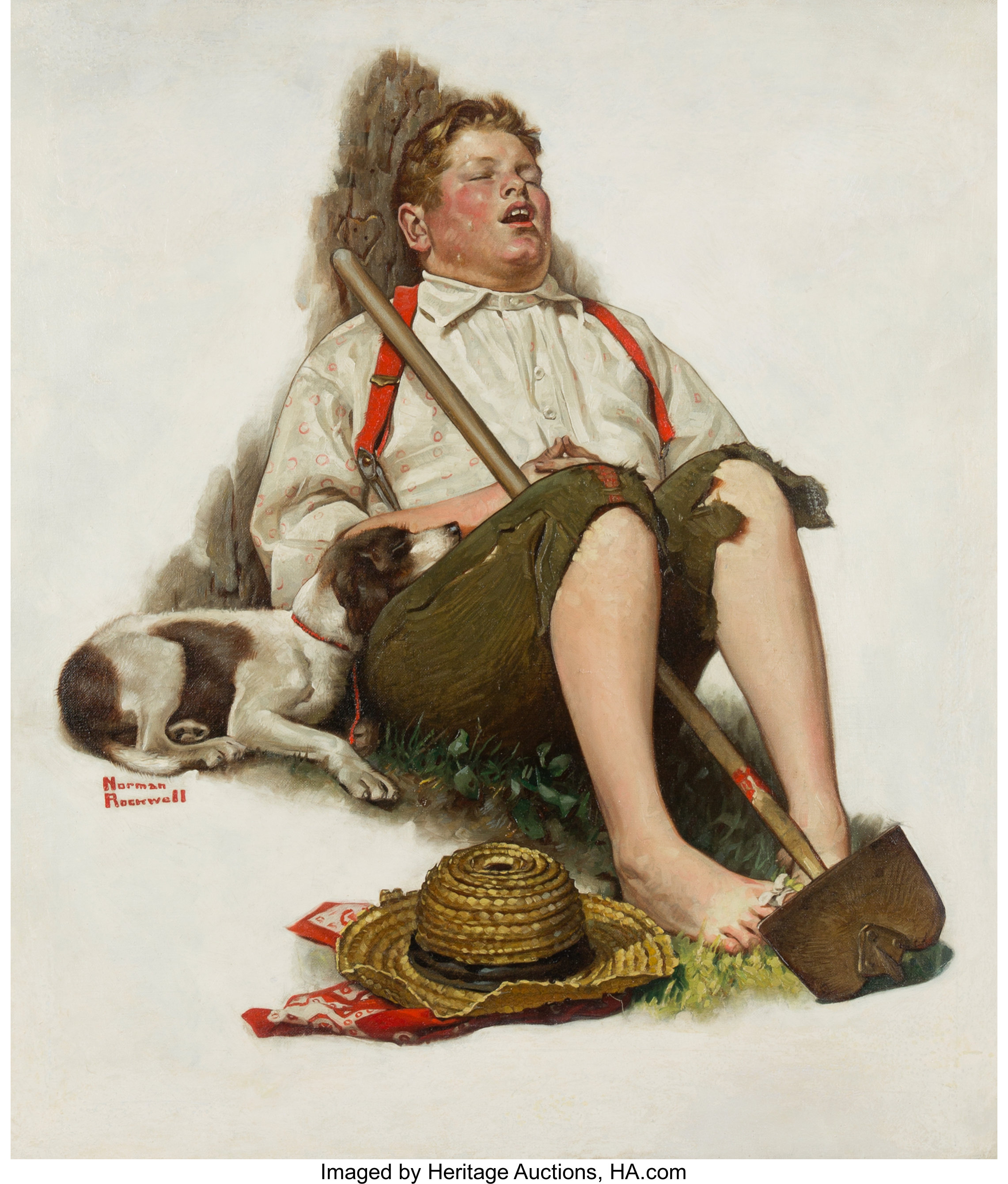 Norman Rockwell American 1894 1978 Lazybones The Saturday Lot 69166 Heritage Auctions
