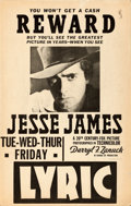 """Movie Posters:Western, Jesse James (20th Century Fox, 1939). Window Card (14"""" X 22"""")Wanted Poster Style.. ..."""