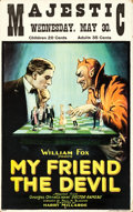 "Movie Posters:Drama, My Friend the Devil (Fox, 1922). Window Card (14"" X 22"").. ..."