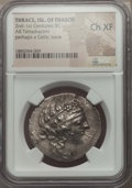 Ancients:Greek, Ancients: THRACIAN ISLANDS. Thasos (or possibly a Celtic issue).Ca. 148-90/80 BC. AR tetradrachm. NGC Choice XF....