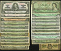 Canadian Currency: , An Assortment of Canadian Notes Including a Fractional and Issuesfrom 1937, 1954, and 1967.. ... (Total: 22 notes)