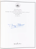 Autographs:Celebrities, Buzz Aldrin Signed Leather-Bound Collector's Edition Book: Spaceflight, Originally from His Personal Collection. ...