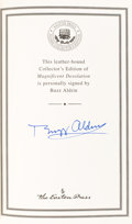 Autographs:Celebrities, Buzz Aldrin Signed Leather-Bound Collector's Edition Book:Magnificent Desolation, Originally from His Personal Co...