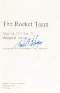 Autographs:Celebrities, Frederick Ordway Signed Book: The Rocket Team....