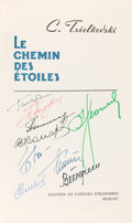 Autographs:Celebrities, Konstantin Tsiolkovsky Book Signed by Nine Early Cosmonauts: LeChemin des Étoiles (Call of the Cosmos...