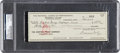 Baseball Collectibles:Others, 1969 Warren Giles Signed Check....