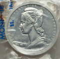 French Equatorial Africa, French Equatorial Africa: French Colony aluminum Piefort Essai 2Francs 1948 Prooflike UNC,...