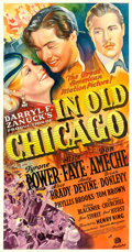 "Movie Posters:Drama, In Old Chicago (20th Century Fox, 1937). Three Sheet (41"" X 78.5"")Style A, Frederic C. Madan Artwork.. ..."