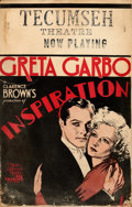 "Movie Posters:Romance, Inspiration (MGM, 1931). Window Card (14"" X 22"").. ..."