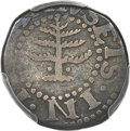 Colonials, 1652 6PENCE Pine Tree Sixpence, Pellets at Trunk, VF20 PCGS. Noe-33, W-670, Salmon 2-B, R.3....