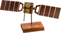 Explorers:Space Exploration, Globalstar Satellite First Launch Handcrafted Model on Base. ...
