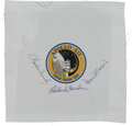 Explorers:Space Exploration, Apollo 12 Crew-Signed Beta Cloth Mission Insignia Directly from theFamily Collection of Mission Lunar Module Pilot Alan Bean....