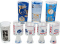 Explorers:Space Exploration, Apollo 11 Glassware: Eight Highballs in Various Styles. ... (Total:8 Items)