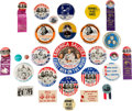 """Explorers:Space Exploration, Apollo 11 Collection of Thirty Vintage Pinbacks and Badgesincluding Rare 2¼"""" """"Hornet Plus Three"""" Example. ..."""