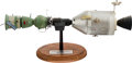 Explorers:Space Exploration, Apollo-Soyuz Test Project: A 1/50 Scale Rockwell Contractor's Model on Base. ...