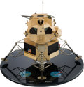 Explorers:Space Exploration, Apollo Lunar Module Grumman Contractor's Model on Base. ...