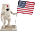 "Explorers:Space Exploration, Apollo 11 Twenty-Fifth Anniversary Limited Edition, #1344/5000,""Man On The Moon"" Porcelain Statue by the United States Histor..."