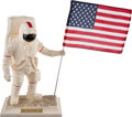 "Explorers:Space Exploration, Apollo 11 Twenty-Fifth Anniversary Limited Edition, #1783/5000,""Man On The Moon"" Porcelain Statue by the United States Histor..."