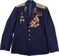 Explorers:Space Exploration, Yuri Gagarin's Air Force Colonel's Jacket Facsimile with NumerousMedals and Awards, Perfect for Display. ...