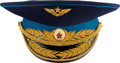 Explorers:Space Exploration, Alexei Leonov's Owned and Worn Soviet Air Force Major General's Parade Visor Hat, Signed. ...