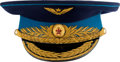 Explorers:Space Exploration, Gherman Titov's Owned and Worn Soviet Air Force Colonel General'sParade Visor Hat, Signed. ...