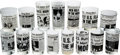 Explorers:Space Exploration, Apollo 11 Glassware: Collection of Fifteen Portraying ActualNewspaper Headlines. ...