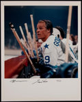 Hockey Collectibles:Photos, Gordie Howe Signed Oversized Photograph....