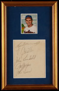 Autographs:Others, Multi-Signed Cut Signature Framed Display....