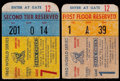 Baseball Collectibles:Tickets, 1960 World Series Game 1 & Game 7 Tickets Stubs Lots of 2. ...