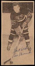Hockey Collectibles:Others, Bill Mosienko Signed Photo Card....