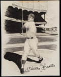 Autographs:Others, Mickey Mantle Signed Original Sketch Artwork....