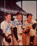 Autographs:Photos, Whitey Ford, Mickey Mantle and Billy Martin Multi-SignedPhotograph....