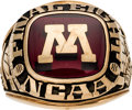 Basketball Collectibles:Others, 1990 Minnesota Golden Gophers Final Eight Ring Presented to Clem Haskins. ...