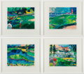 "Golf Collectibles:Art, 1992 ""Big Time Golf"" Suite Serigraphs by LeRoy Neiman Set of 4.... (Total: 4 item)"