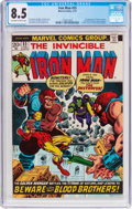 Bronze Age (1970-1979):Superhero, Iron Man #55 (Marvel, 1973) CGC VF+ 8.5 Off-white to whitepages....