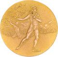 Miscellaneous Collectibles:General, 1930 British Figure Skating Championships Gold Medal Presented to Kathleen Shaw....