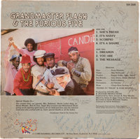 "1982 ""The Message"" Grandmaster Flash & The Furious Five Signed Album - Inscribed to Rick James"