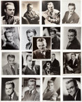 Movie/TV Memorabilia:Photos, A James Cagney Large Collection of Black and White Headshots, 1940s-1950s....