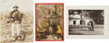 Baseball Collectibles:Others, 1940's Ty Cobb Christmas Cards Lot of 3. ...
