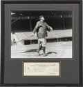 Baseball Collectibles:Others, 1942 Babe Ruth Signed Check to His Wife Claire. ...