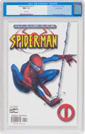 Modern Age (1980-Present):Superhero, Ultimate Spider-Man #1 (Variant Cover) (Marvel, 2000) CGC NM+ 9.6White pages....