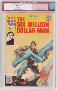 The Six Million Dollar Man #1 (Charlton, 1976) CGC NM 9.4 White pages