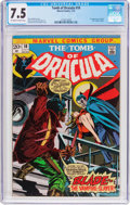 Bronze Age (1970-1979):Horror, Tomb of Dracula #10 (Marvel, 1973) CGC VF- 7.5 Off-white to whitepages....