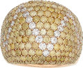 Estate Jewelry:Rings, Diamond, Colored Diamond, Gold Ring The ring f...