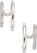 Estate Jewelry:Earrings, Diamond, White Gold Earrings, Antonini. ...