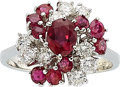 Estate Jewelry:Rings, Ruby, Diamond, White Gold Ring, Black, Starr & Frost. ...