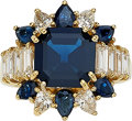 Estate Jewelry:Rings, Sapphire, Diamond, Gold Ring. ...